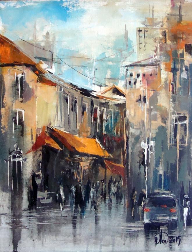 Картина Мокрый городок