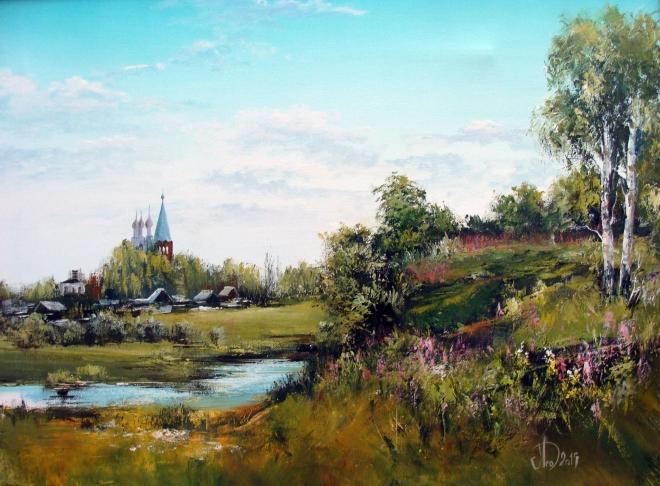Картина маслом Село Дунилово