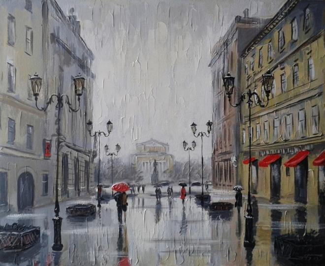 Дождь на Малой Садовой (Петербург)