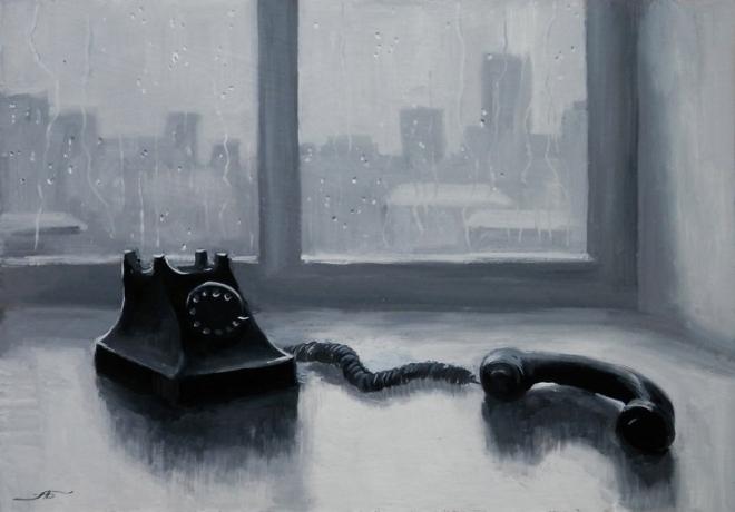 Картина Нет ответа... Вольная копия картины Ю.Пименова